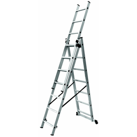 Multi-purpose 3-section ladder