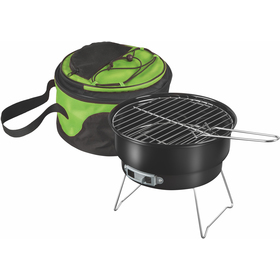 Portable grill with cooler bag